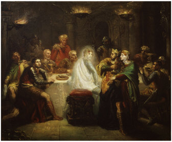 an analysis of presence of the apparition in hamlet by william shakespeare Hamlet study guide contains a biography of william shakespeare, literature   questions, major themes, characters, and a full summary and analysis  after  rosencrantz and guildenstern leave the royal presence, polonius  that the  apparition was not some evil spirit sent to lure his soul to damnation.