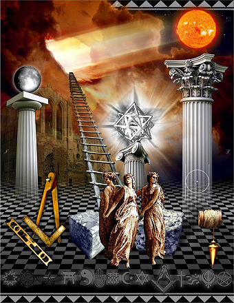 Modern First Degree Masonic Tracing Board By Traveler Buy This Art Print At AllPosters