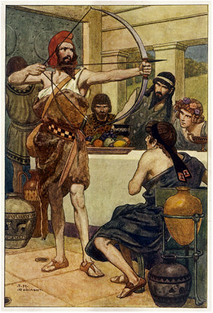 Odysseus and Suitors           Buy this art print at AllPosters com  Odysseus And The Suitors