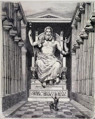 Zeus - Zeus  the most powerful Zeus Greek God Statue