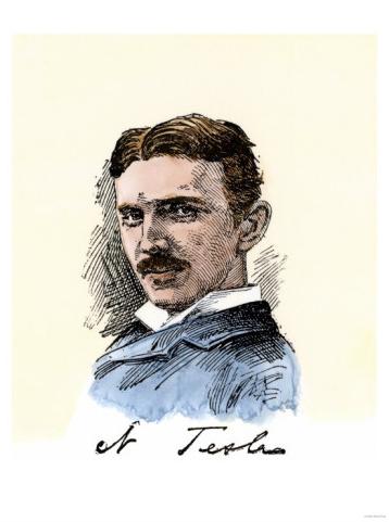 717b8bb29 Inventor Nikola Tesla, with His Signature . . . — Buy this art print at  AllPosters.com